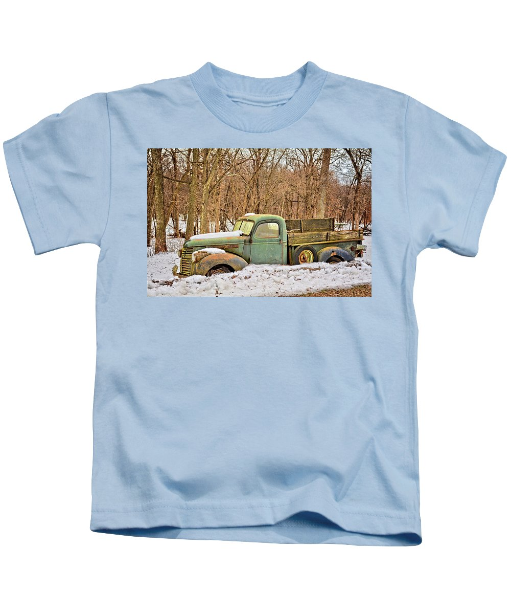 Pickup Kids T-Shirt featuring the photograph The Farm Truck by Bonfire Photography