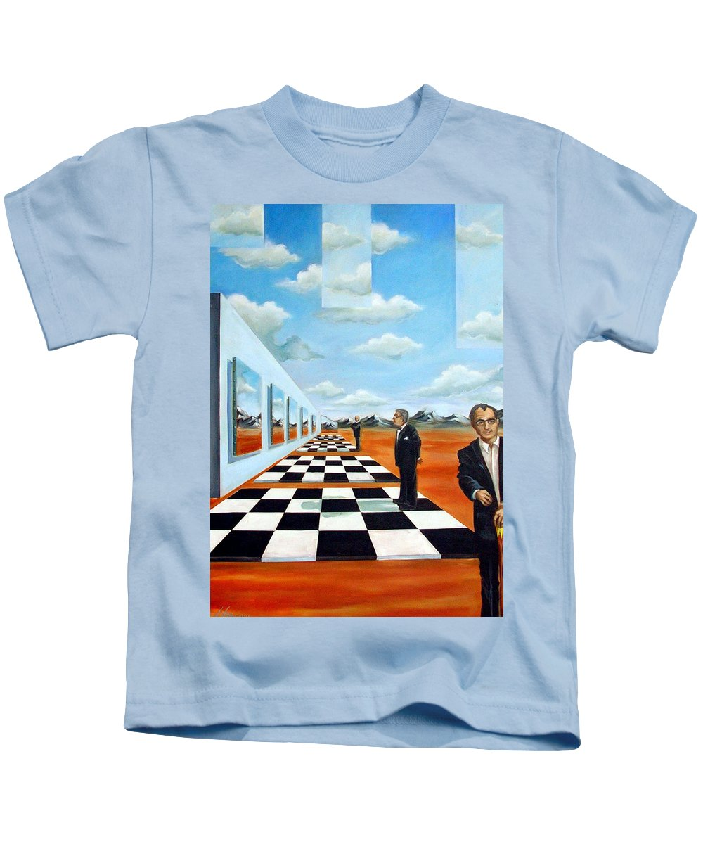Surreal Kids T-Shirt featuring the painting The Gallery by Valerie Vescovi