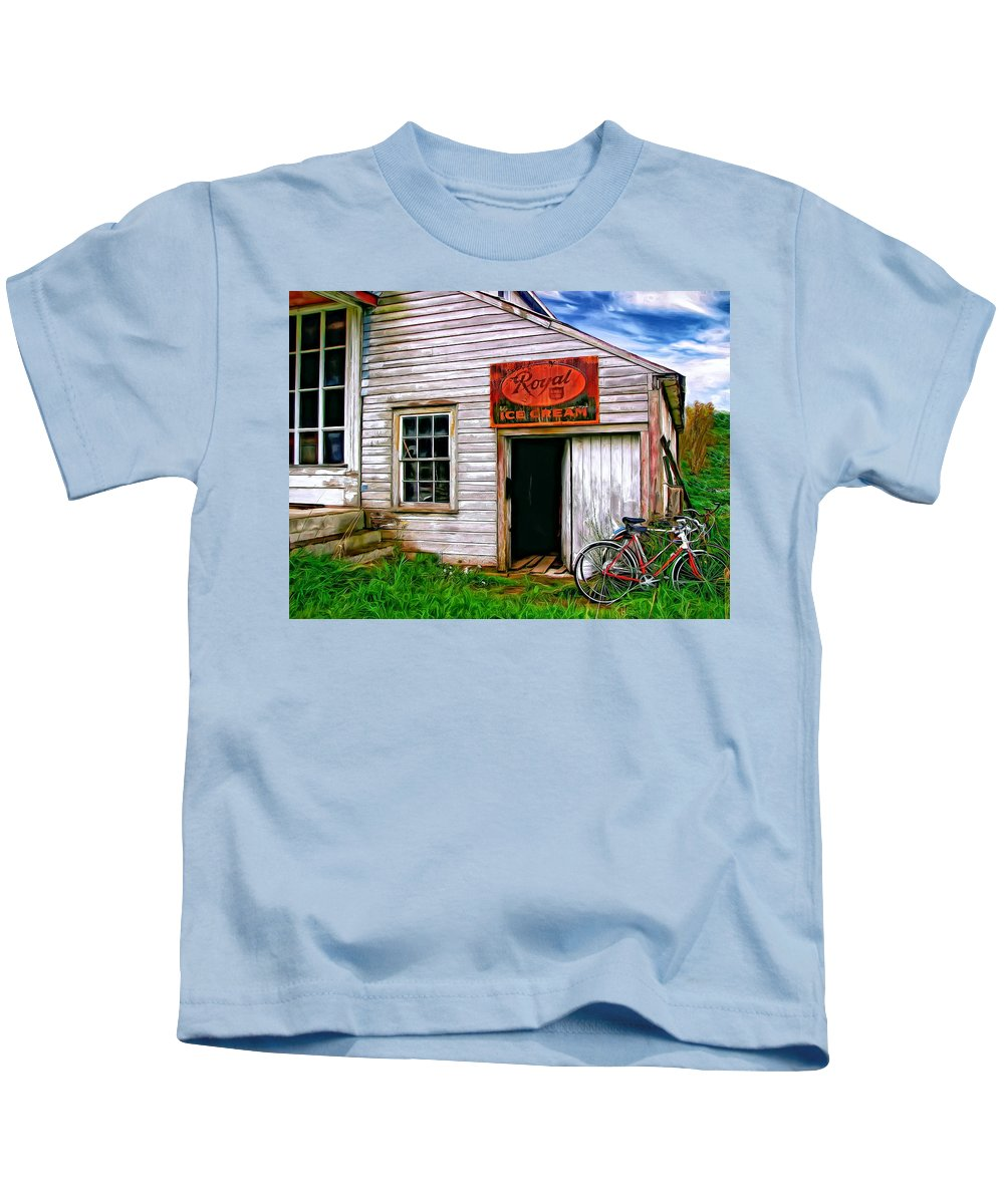 General Store Kids T-Shirt featuring the photograph The General Store Painted by Steve Harrington