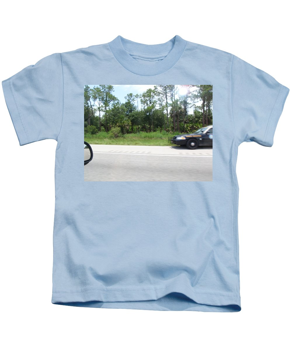 Getaway Kids T-Shirt featuring the photograph The Getaway by Are Lund