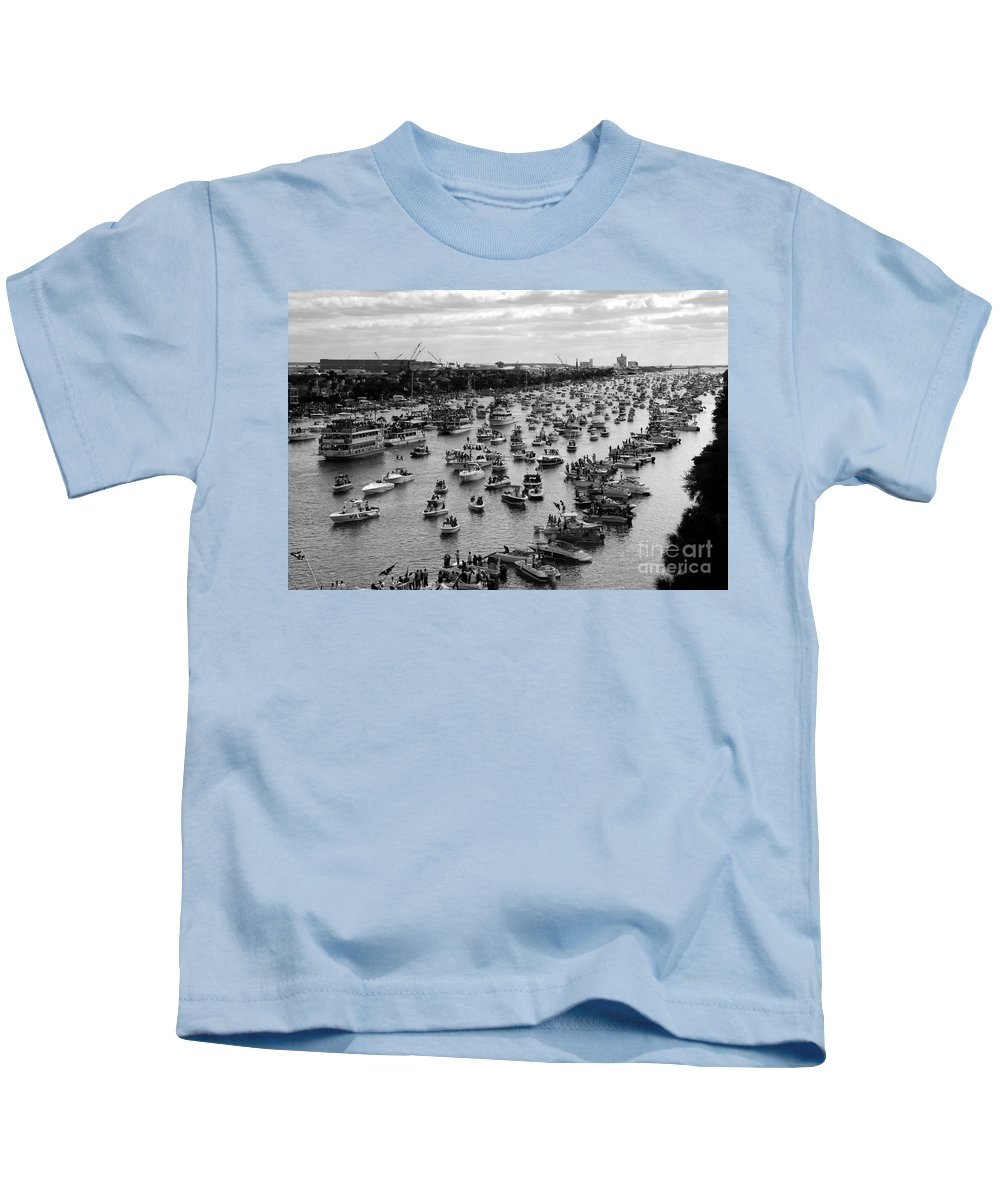 Flotilla Kids T-Shirt featuring the photograph The Great Flotilla by David Lee Thompson
