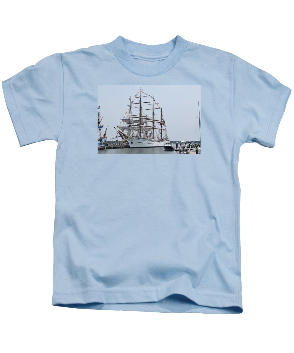 The Sagres Kids T-Shirt featuring the photograph The Sagres by Deborah A Andreas