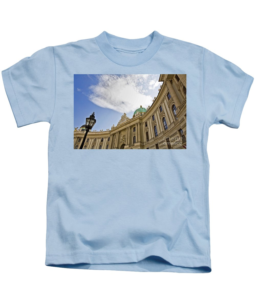 Hofberg Kids T-Shirt featuring the photograph The Hofberg In Vienna by Madeline Ellis