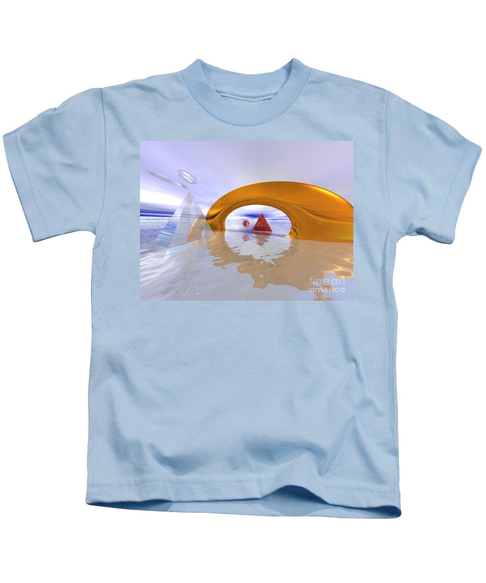 Fantasy Kids T-Shirt featuring the digital art The Journey Beyond by Oscar Basurto Carbonell