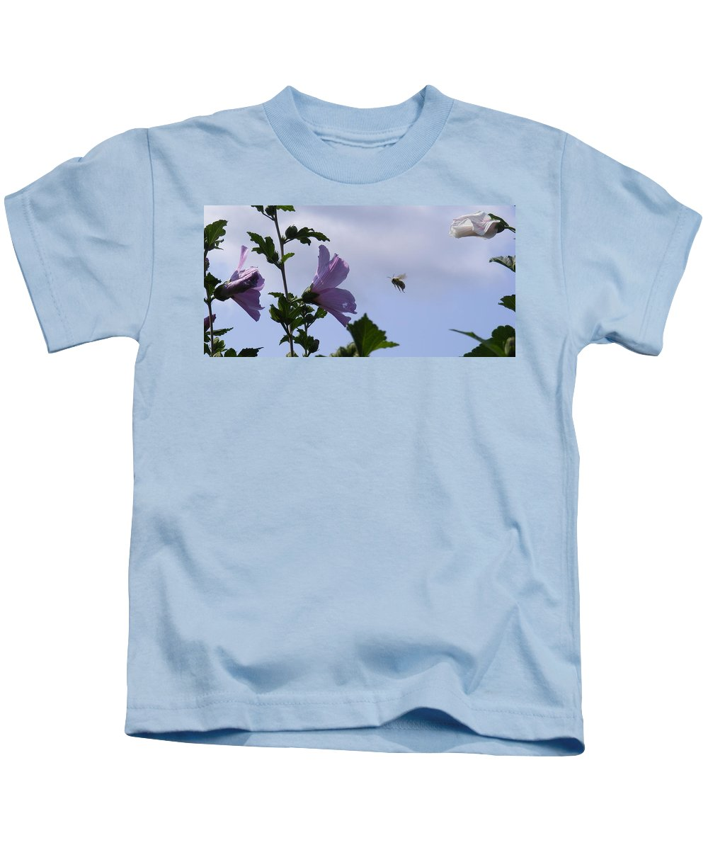 Landscape Kids T-Shirt featuring the photograph The Landing Strip by Ed Smith