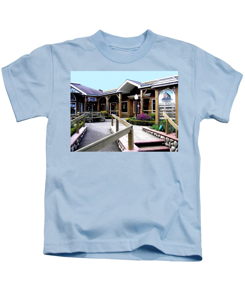 The Landing Kids T-Shirt featuring the photograph The Landing by Will Borden