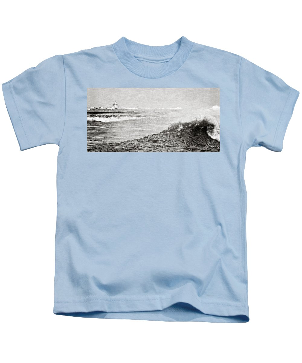 Lighthouse Kids T-Shirt featuring the photograph The Lighthouse by Everet Regal