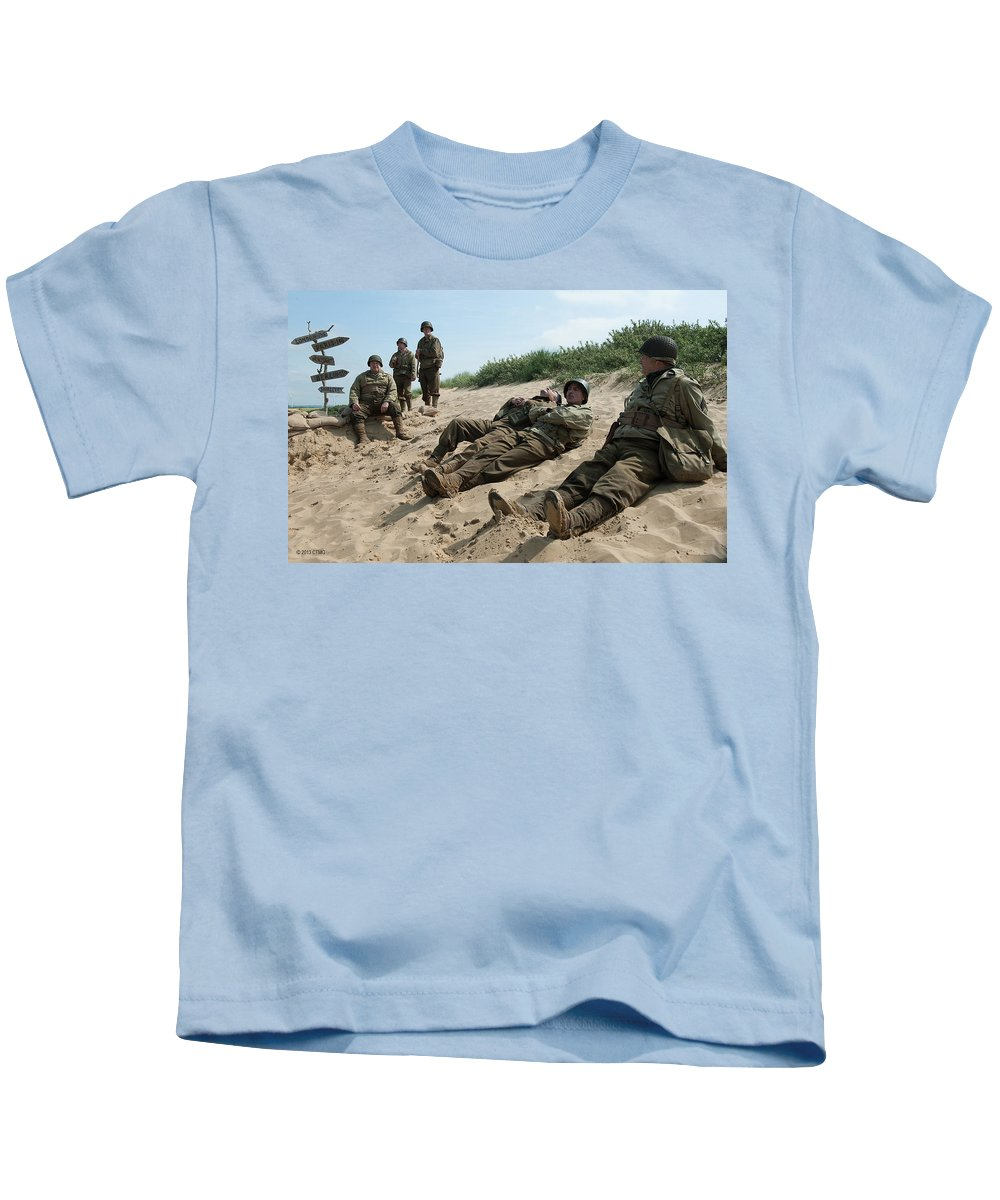 The Monuments Men Kids T-Shirt featuring the digital art The Monuments Men by Dorothy Binder