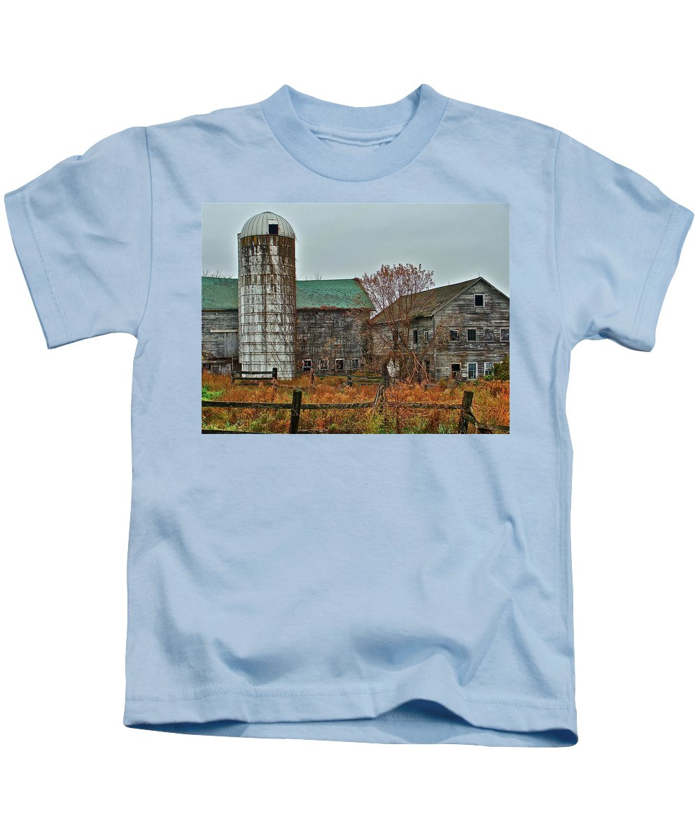 Rural Kids T-Shirt featuring the photograph The Old Farm by Diana Hatcher