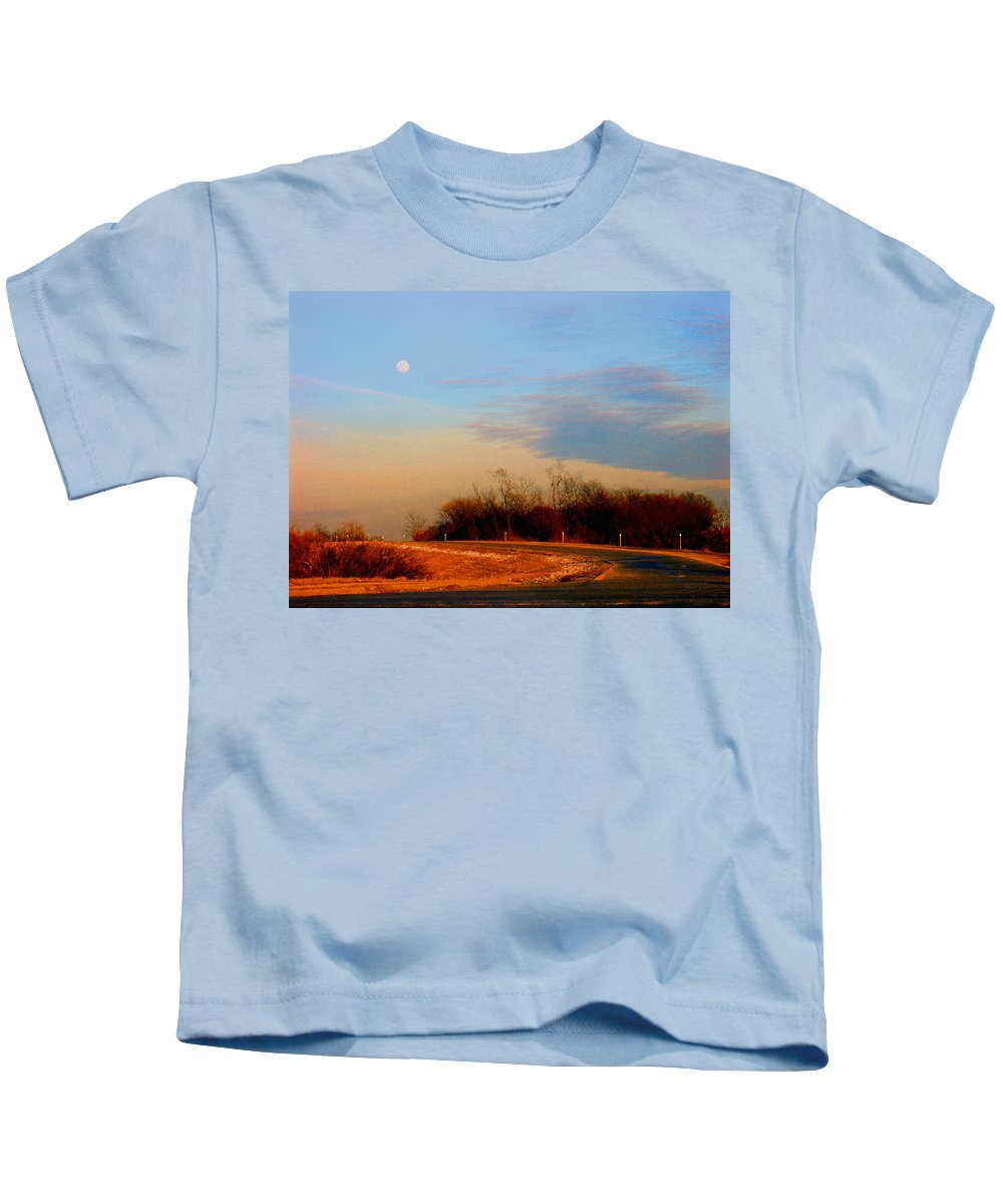 Landscape Kids T-Shirt featuring the photograph The On Ramp by Steve Karol