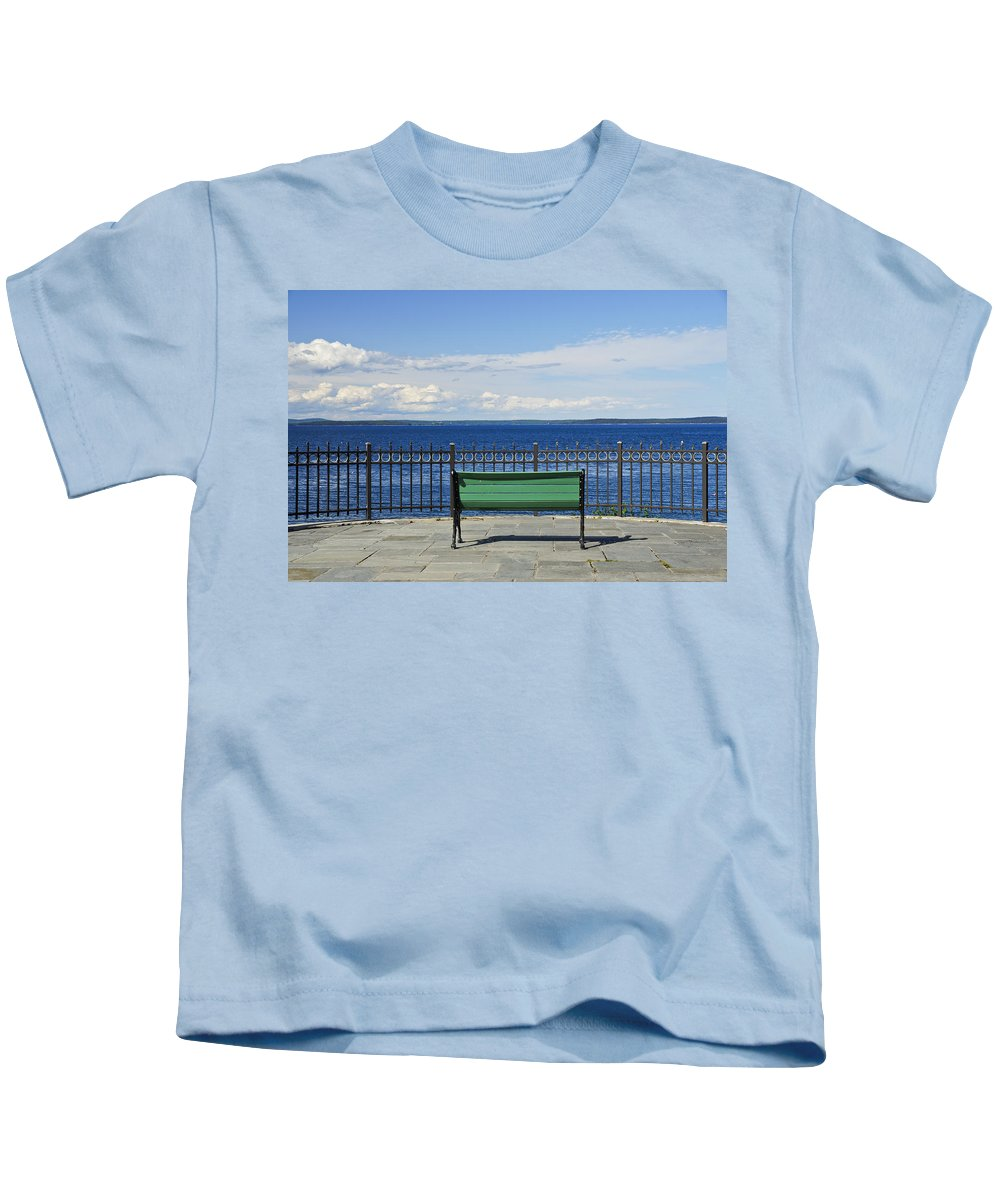 Acadia National Park Kids T-Shirt featuring the photograph The Overlook by Brian Kamprath