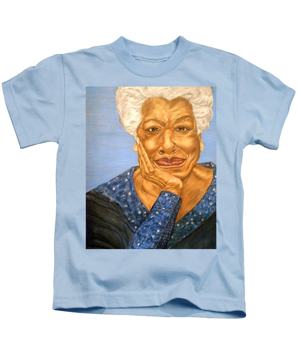 Portrait Kids T-Shirt featuring the painting The Poet by Arron Kirkwood