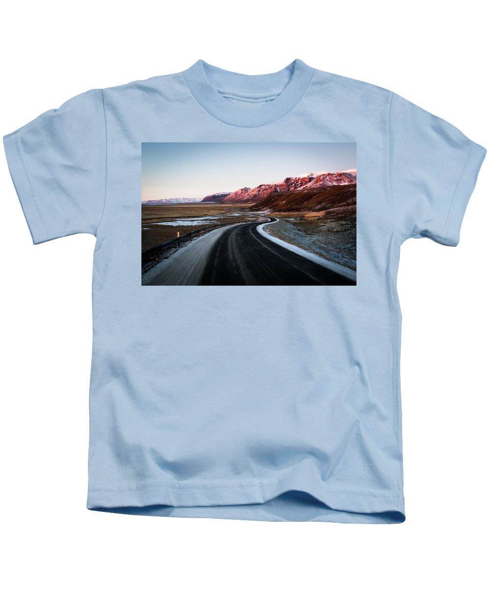 Landscape Kids T-Shirt featuring the photograph The Ring Road by Daniel Rodriguez