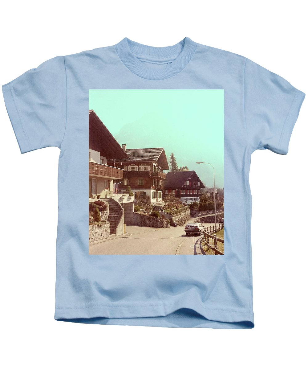 Switzerland Kids T-Shirt featuring the photograph The Road by Jost Houk