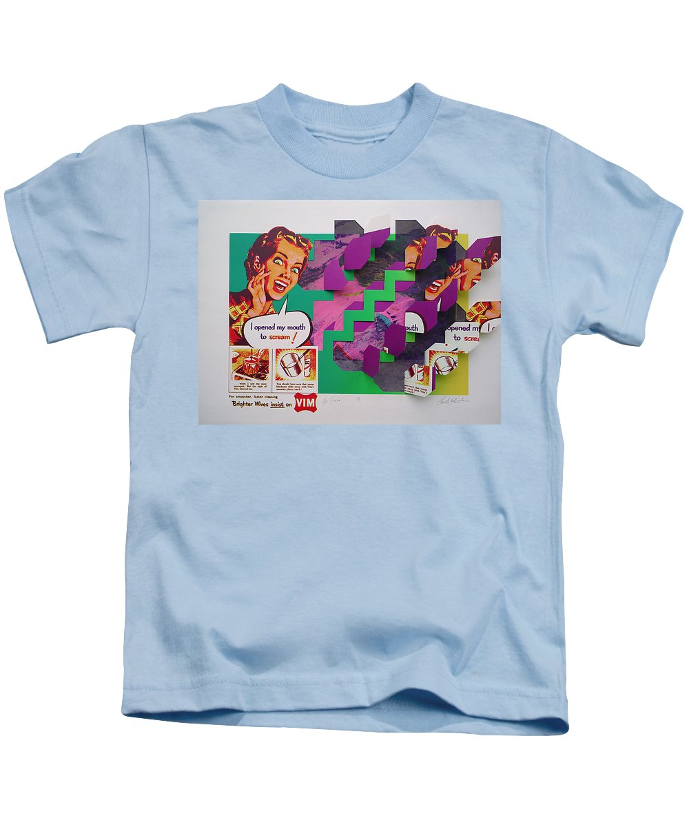 Psycho Kids T-Shirt featuring the painting The Scream 2 by Charles Stuart