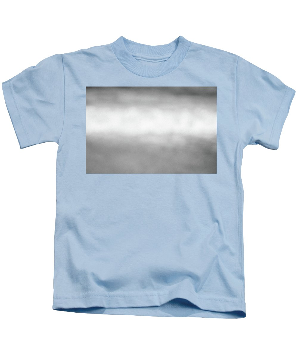 Abstract Kids T-Shirt featuring the photograph The Sea, The Wave And The Sand Abstract In Black And White by Yoel Koskas