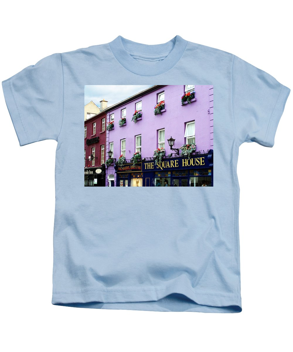 Irish Kids T-Shirt featuring the photograph The Square House Athlone Ireland by Teresa Mucha