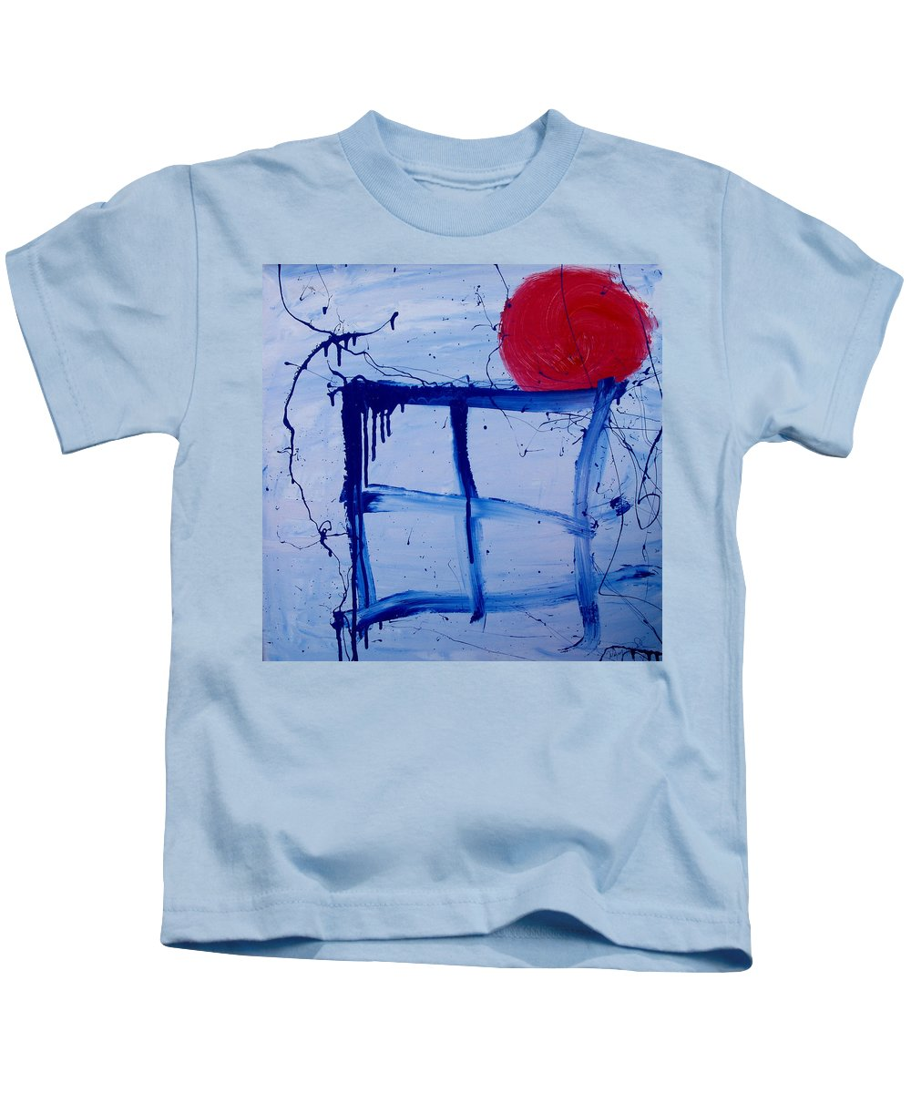 Sun Kids T-Shirt featuring the painting The Sun Through My Window by Wayne Potrafka
