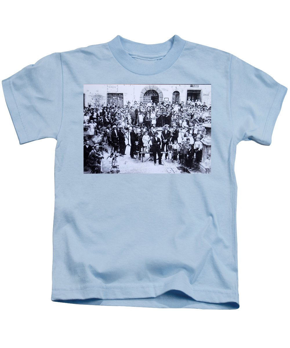 Tuscany Kids T-Shirt featuring the photograph The Village Band by Kurt Hausmann