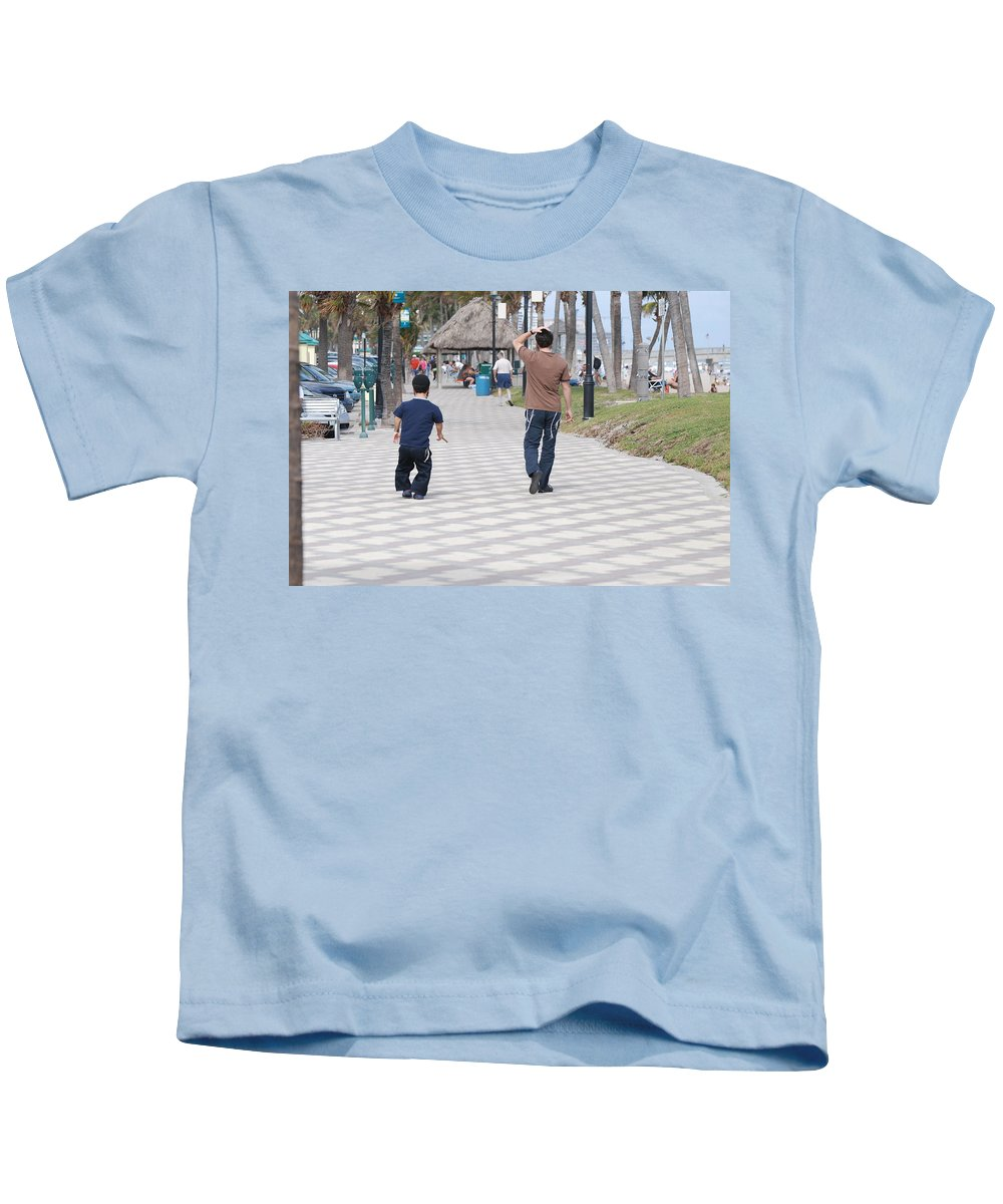 Man Kids T-Shirt featuring the photograph The Walk by Rob Hans