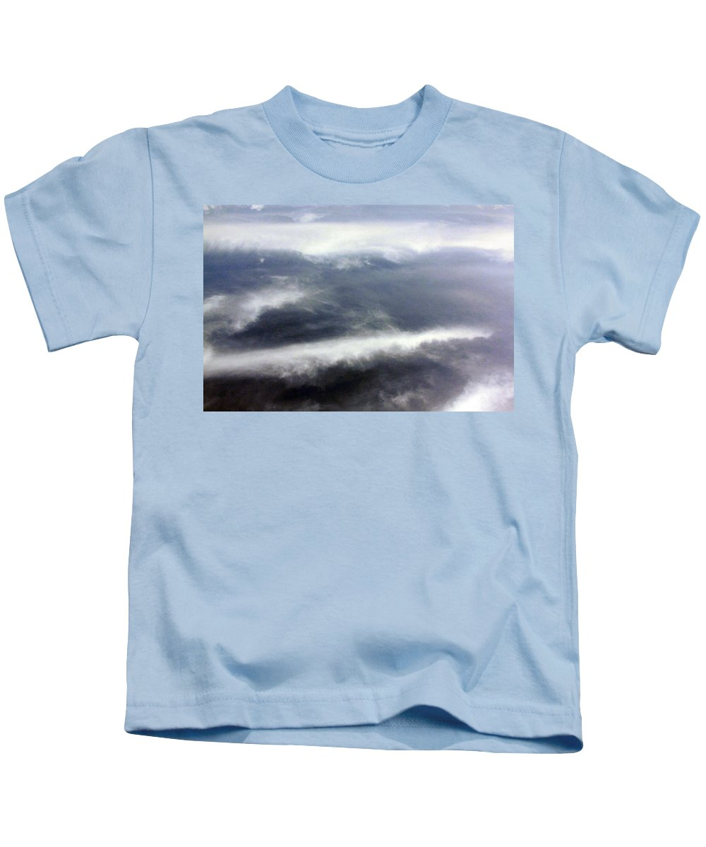 Cloud Kids T-Shirt featuring the photograph The Wings by Munir Alawi