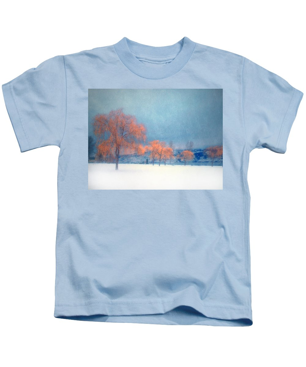 Blue Kids T-Shirt featuring the photograph The Winter Blues by Tara Turner