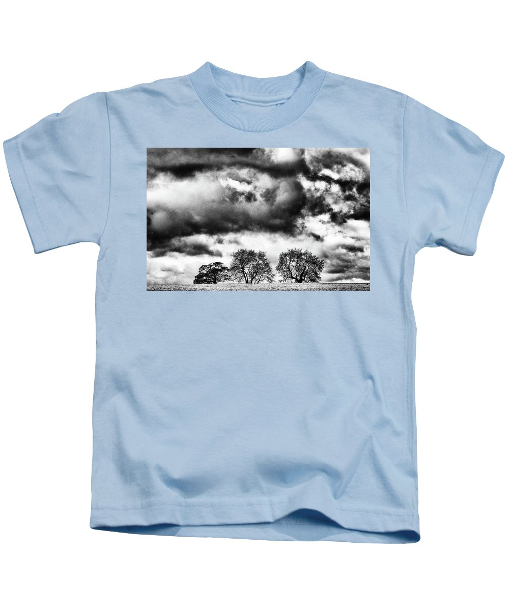 Snow Kids T-Shirt featuring the photograph Three Tree Tops Landscape by Cliff Norton