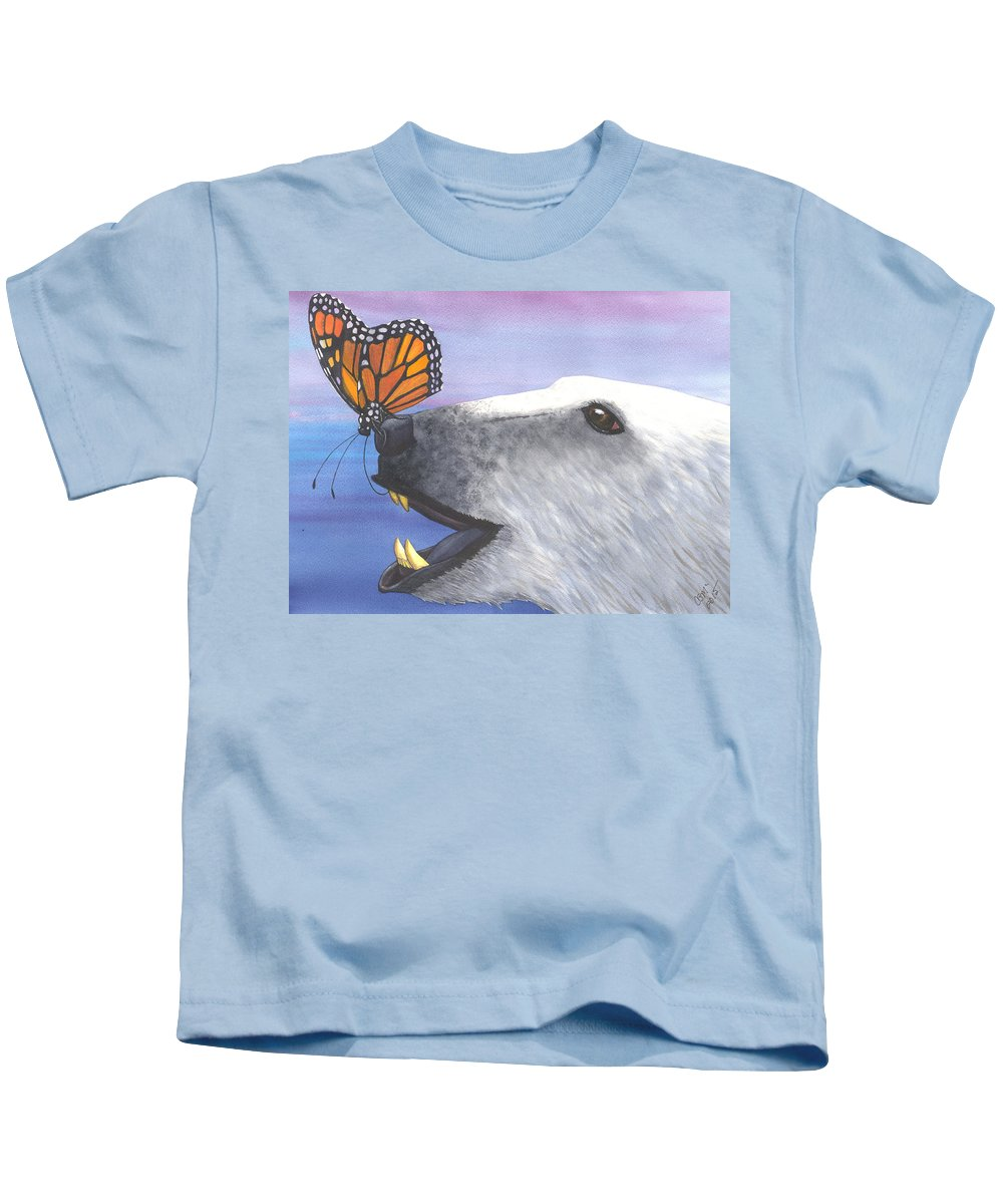 Butterfly Kids T-Shirt featuring the painting Tickles by Catherine G McElroy