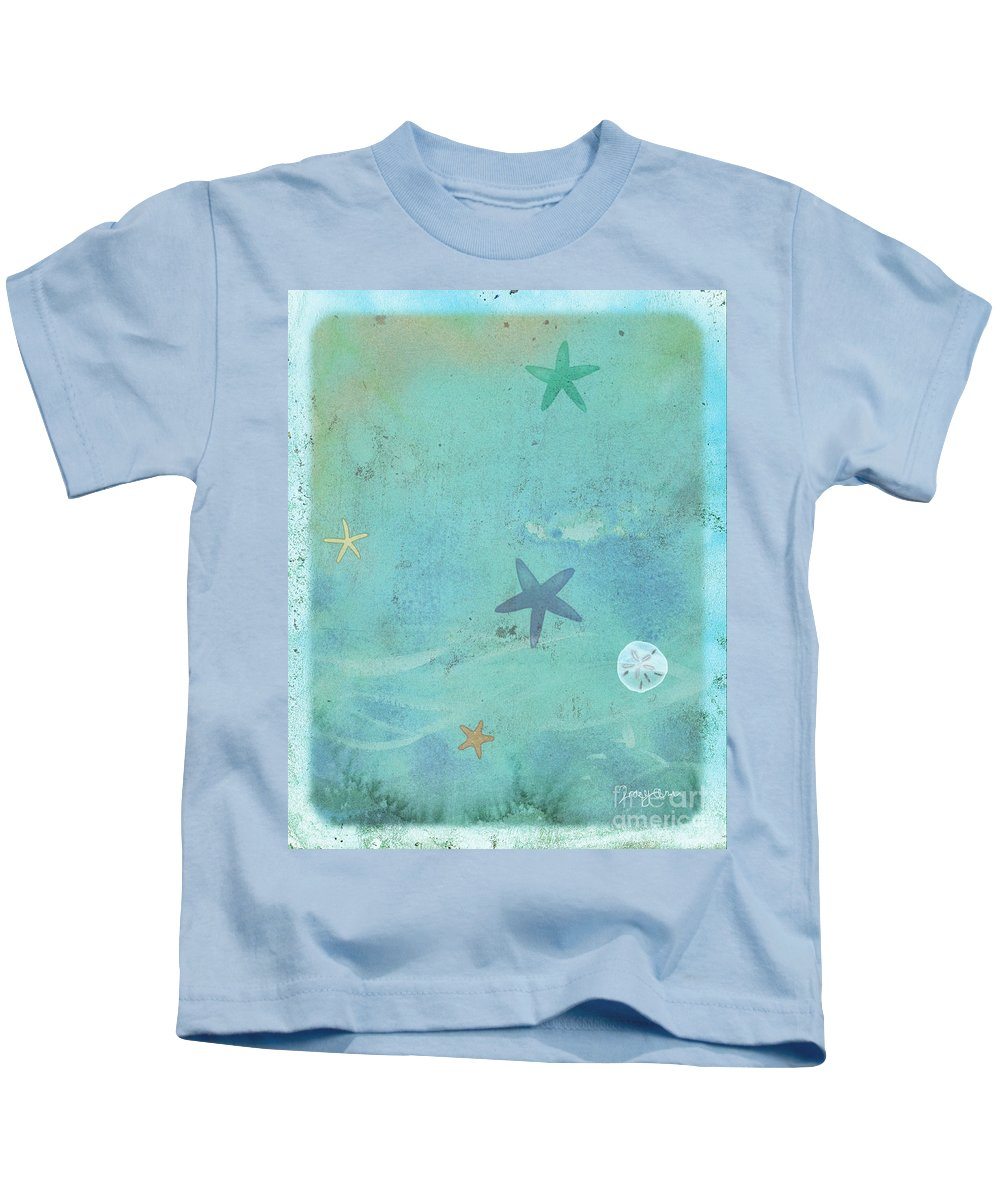 Beach Kids T-Shirt featuring the painting Tidepool I by Tracy Herrmann