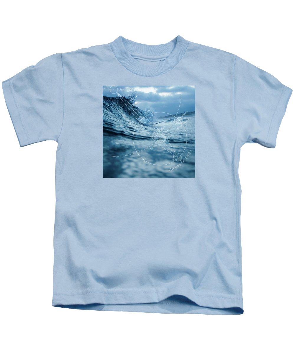 Ocean Kids T-Shirt featuring the digital art Tides by Roberta Boe