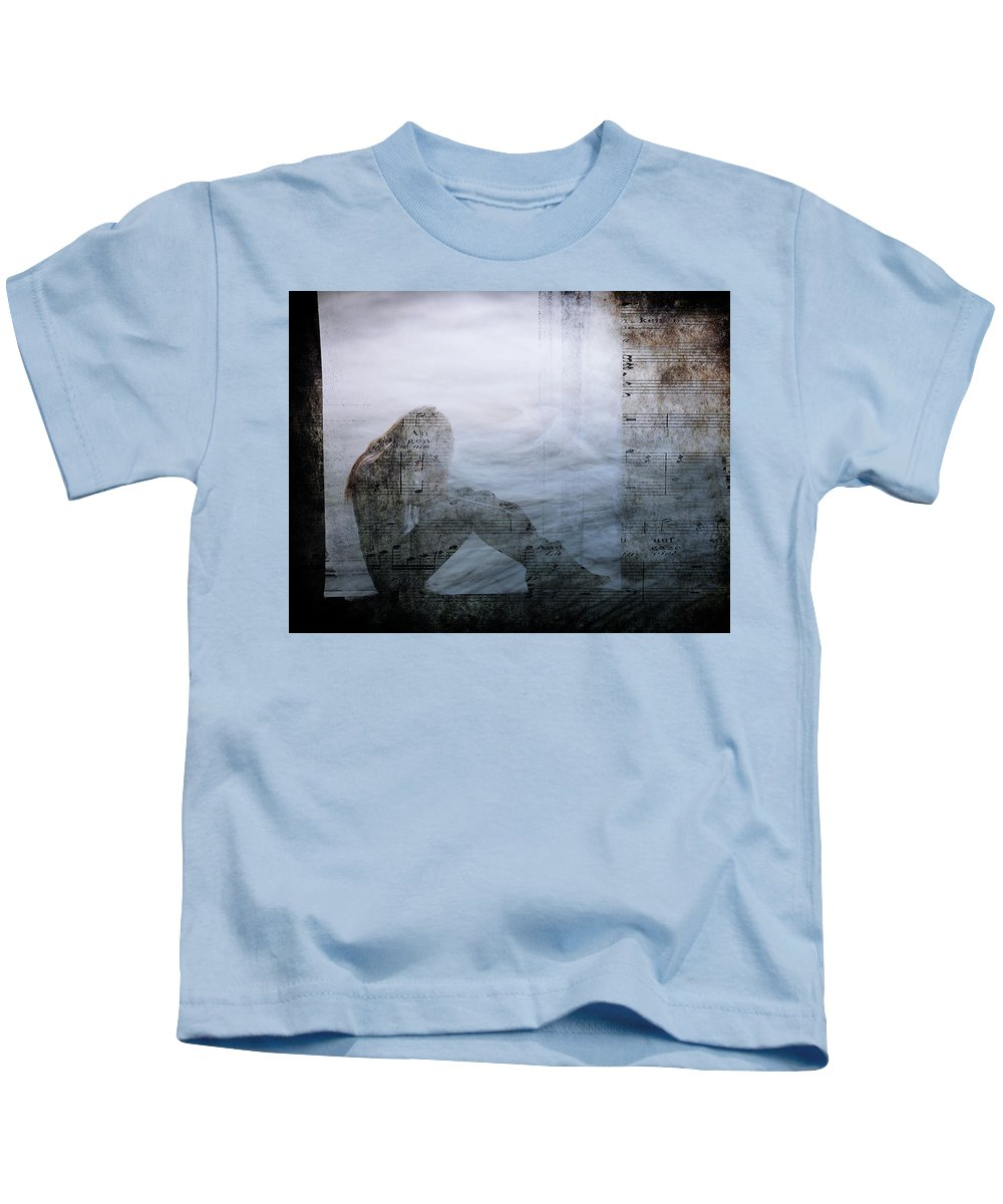 Tone Kids T-Shirt featuring the photograph Tons Of The Loneliness V2 by Alex Art and Photo