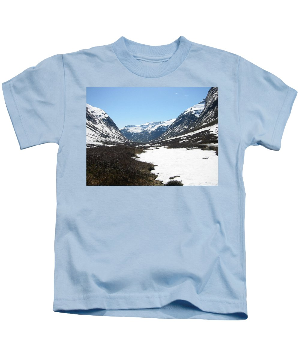 Mountain Kids T-Shirt featuring the photograph Top Of Rv 63 by Are Lund