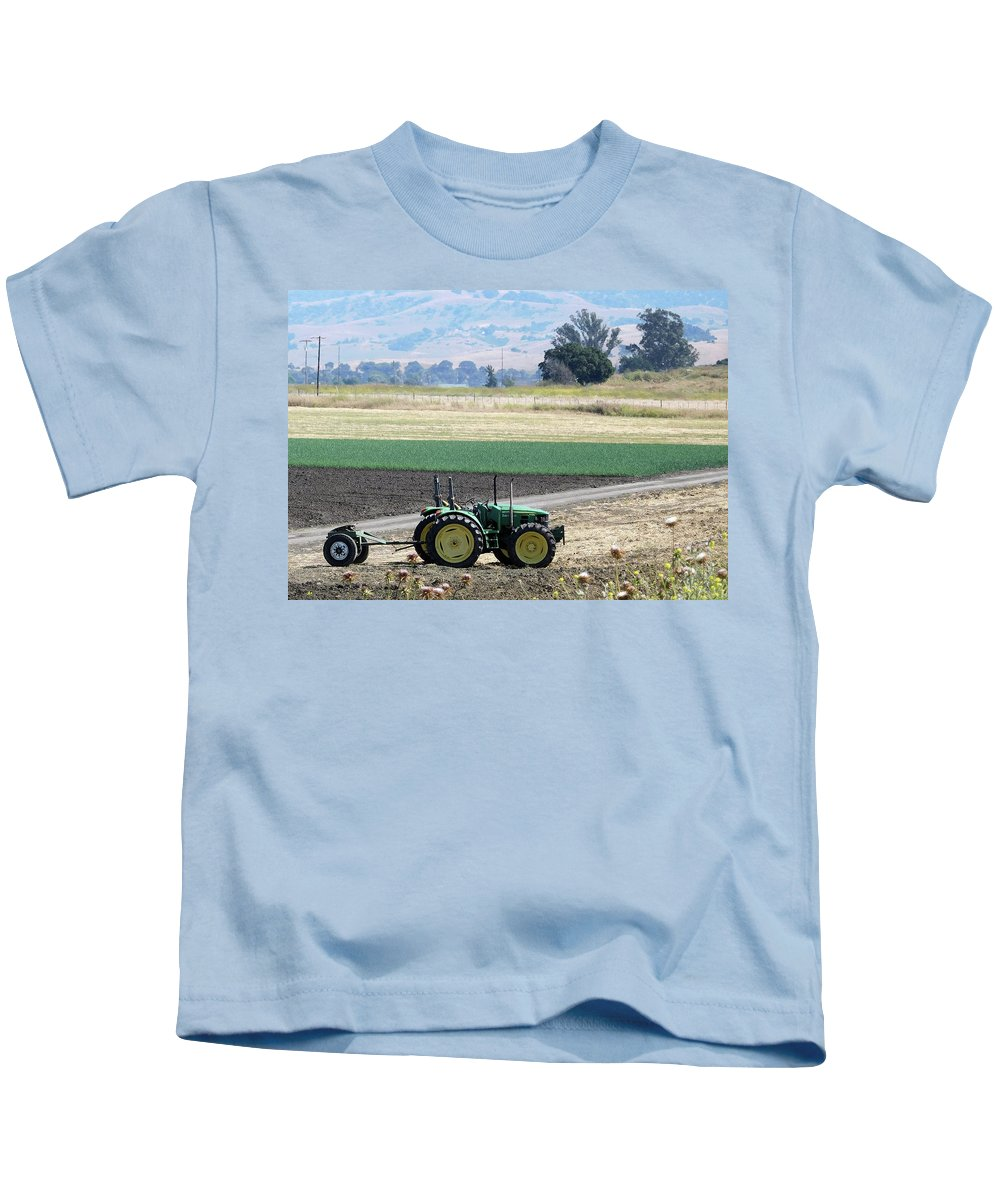 Tractor Kids T-Shirt featuring the photograph Tractor by Robert Redlight