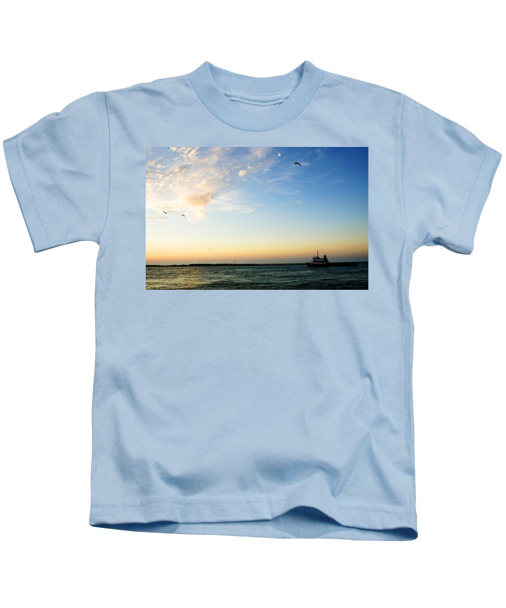 Sip Kids T-Shirt featuring the photograph Travels At Sunset by Marilyn Hunt