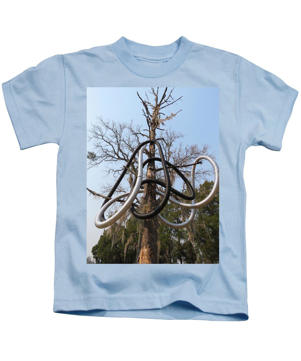 Kids T-Shirt featuring the sculpture Tree Of Life by Mario Carta