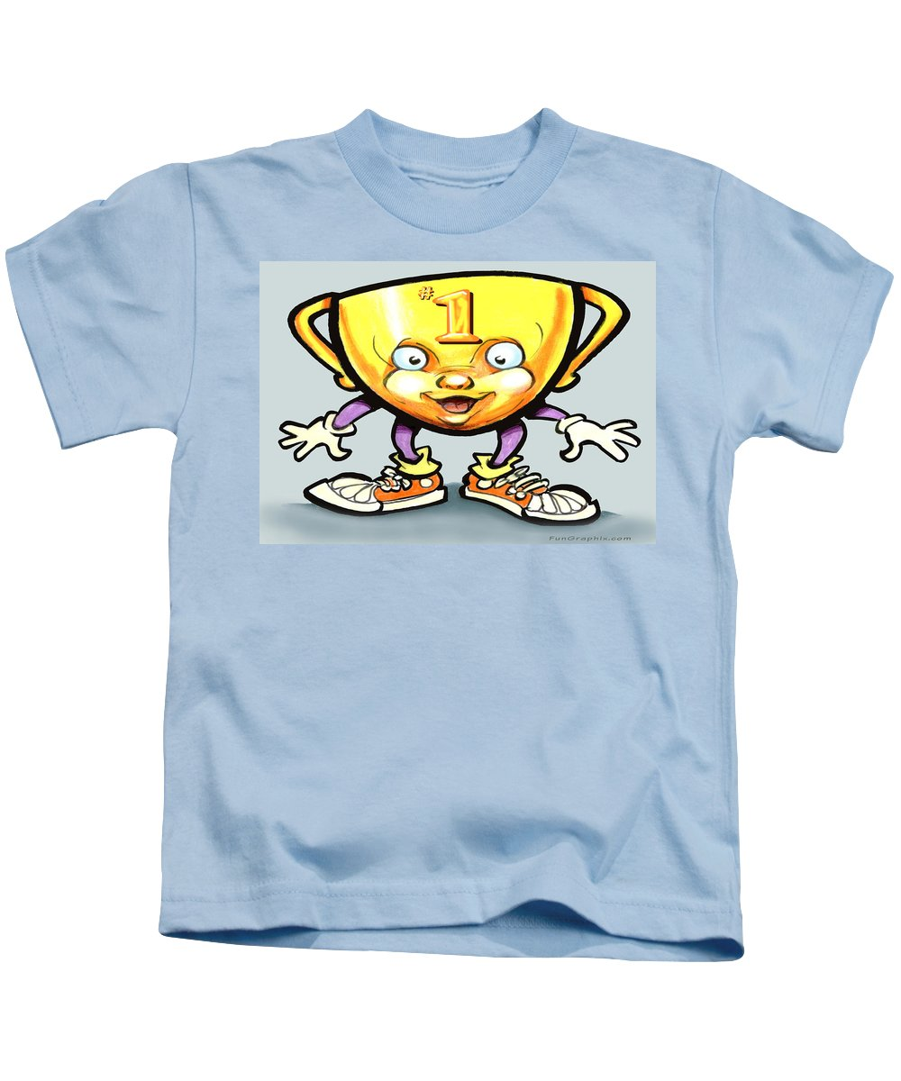 Trophy Kids T-Shirt featuring the digital art Trophy by Kevin Middleton