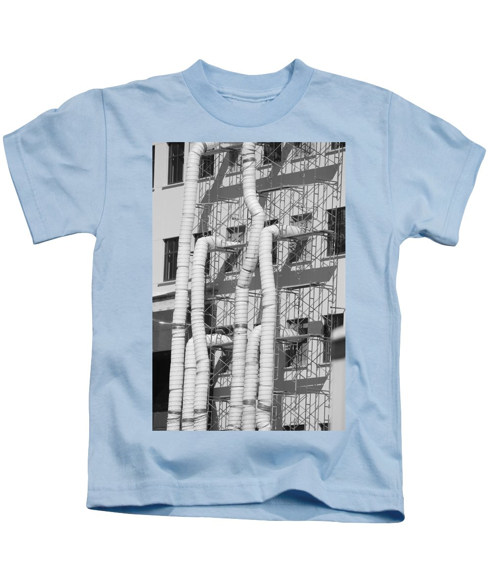 Tubes Kids T-Shirt featuring the photograph Tube Construction by Rob Hans