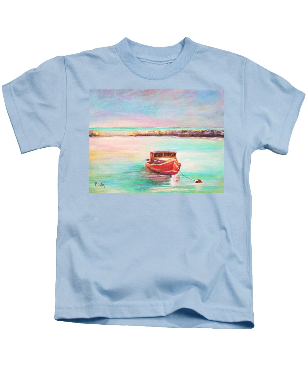 Lobster Kids T-Shirt featuring the painting Tucked In by Patricia Piffath