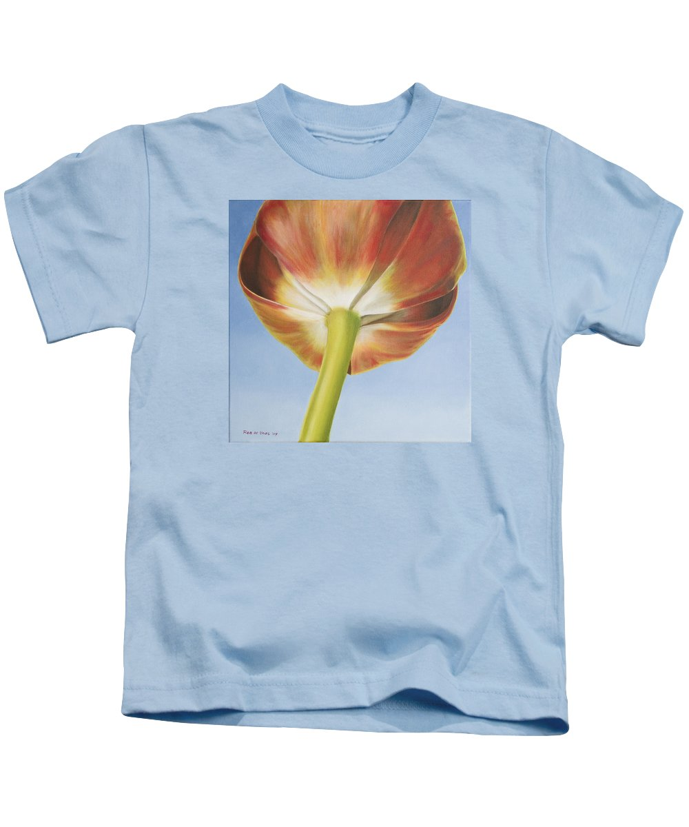 Flower Kids T-Shirt featuring the painting Tulip by Rob De Vries