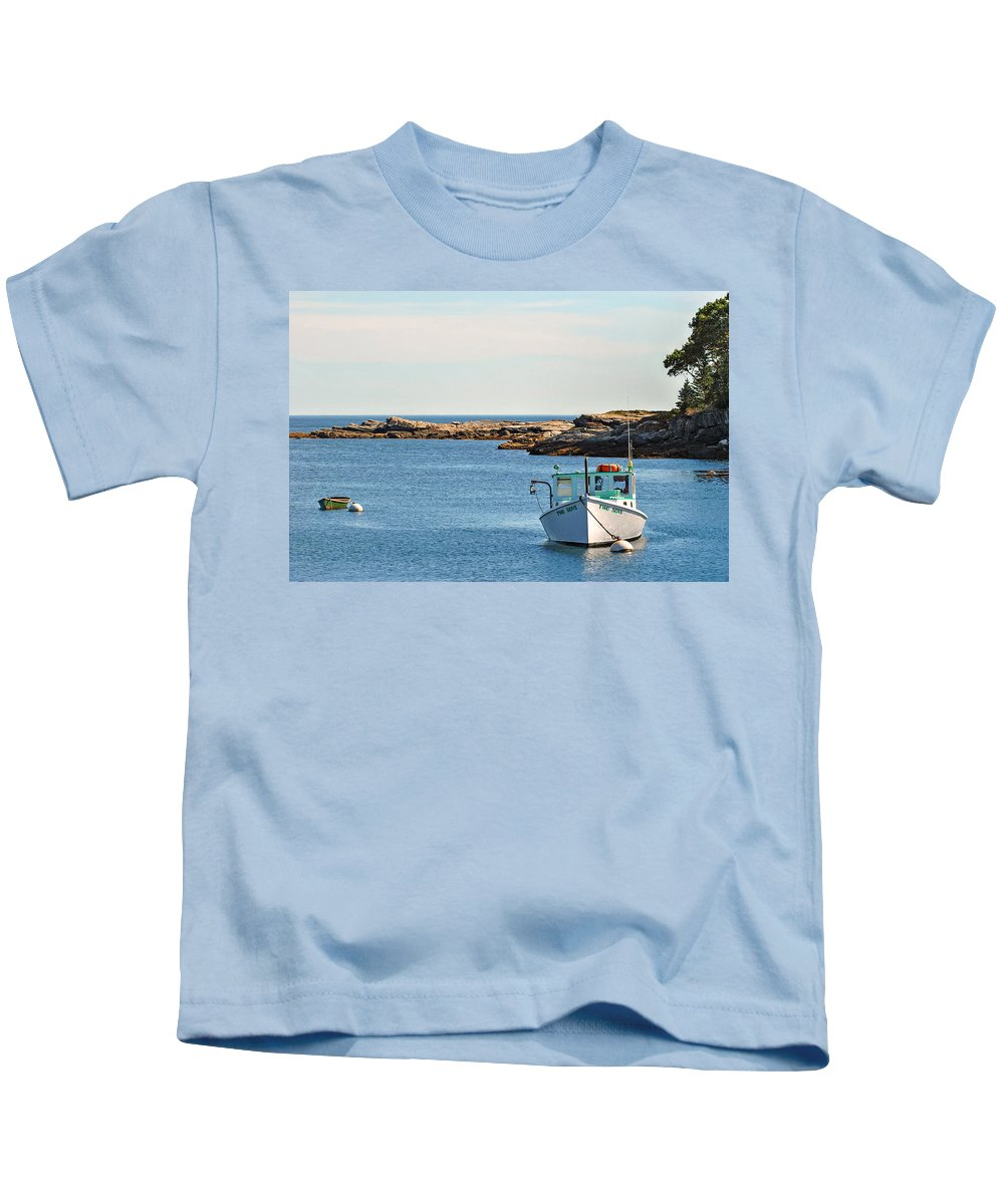 New Harbor Kids T-Shirt featuring the photograph Two Sons by Scott Coleman