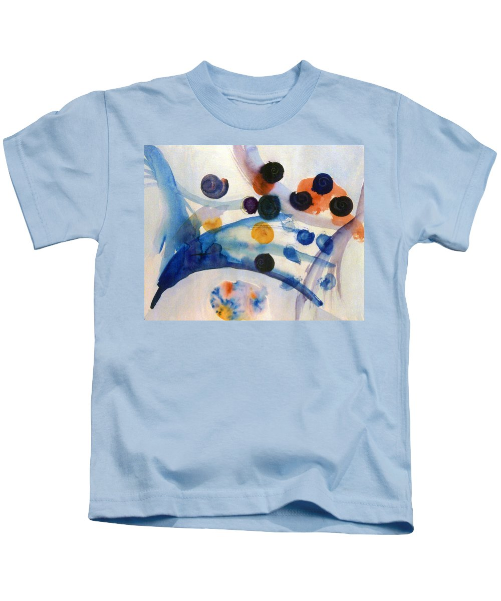 Abstract Kids T-Shirt featuring the painting Under The Sea by Steve Karol