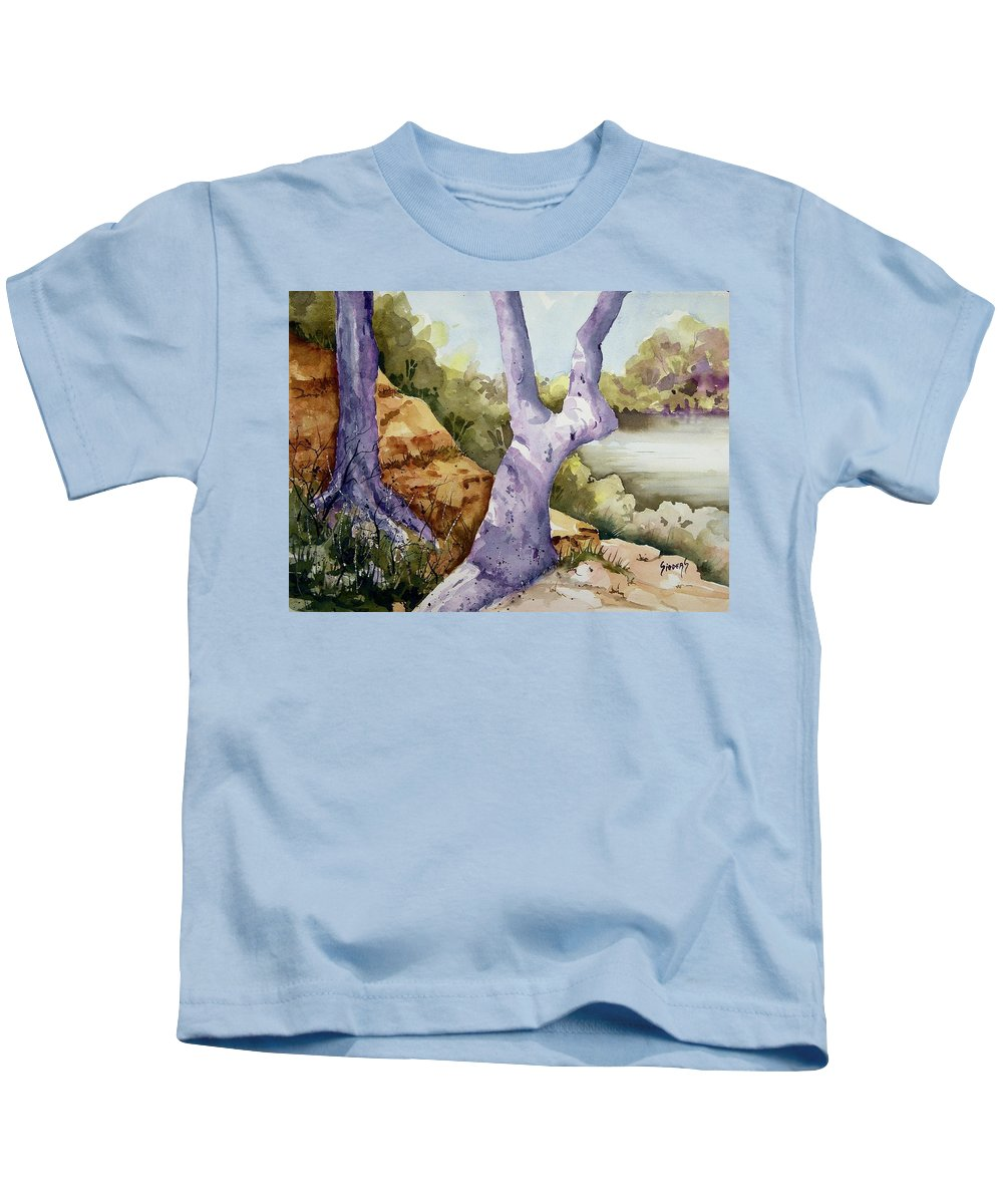 Tree Kids T-Shirt featuring the painting Untitled by Sam Sidders