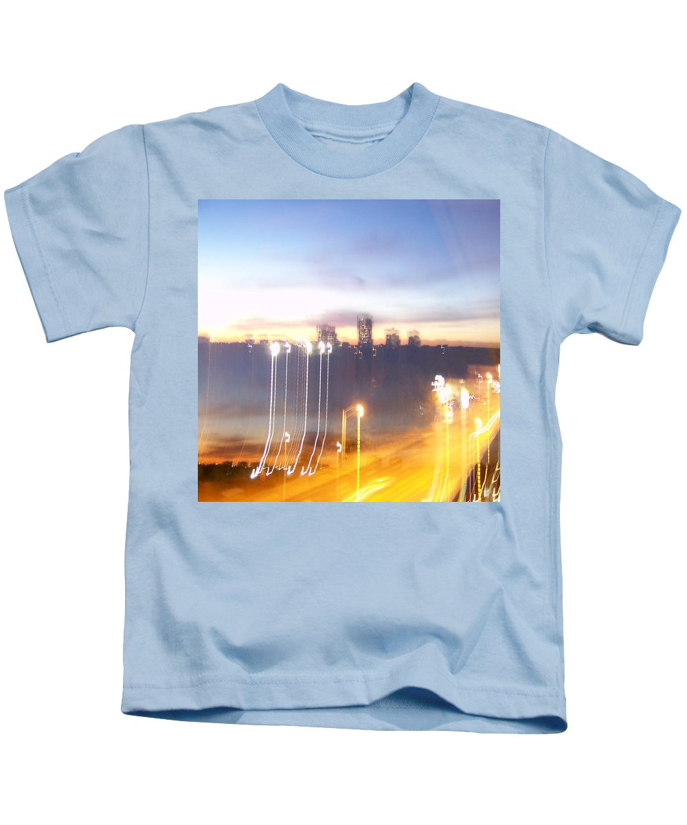 �toronto File� Collection By Serge Averbukh Kids T-Shirt featuring the photograph Uptown Toronto - Friday Night by Serge Averbukh