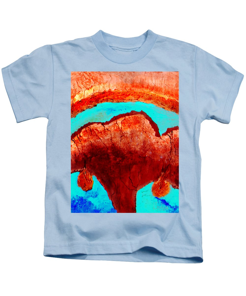 Color Kids T-Shirt featuring the painting Uterus by Veronica Jackson