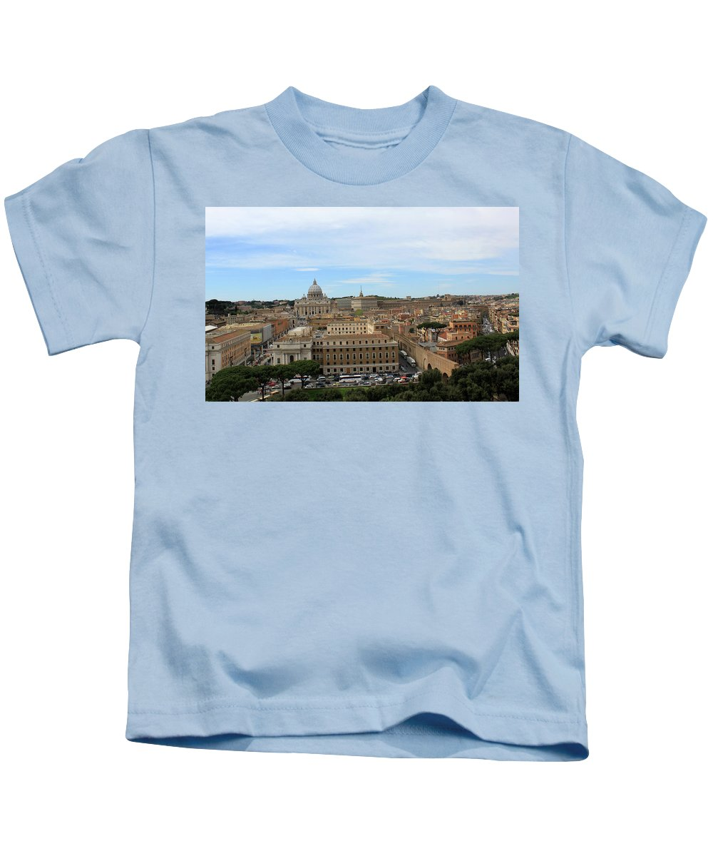 Rome Kids T-Shirt featuring the photograph Vatican In Spring by Munir Alawi