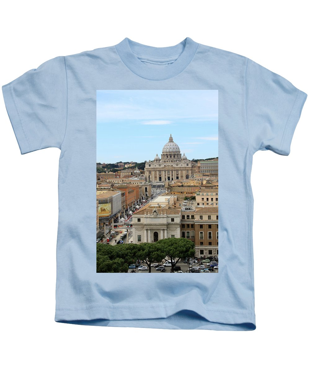 Vatican Kids T-Shirt featuring the photograph Vatican Rome by Munir Alawi