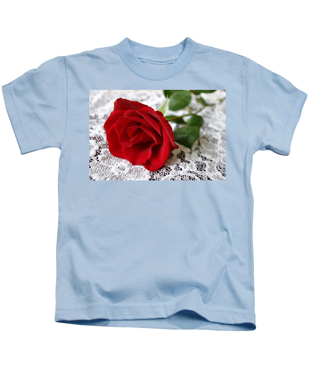 Red Rose Kids T-Shirt featuring the photograph Victorian Rose by Kristin Elmquist