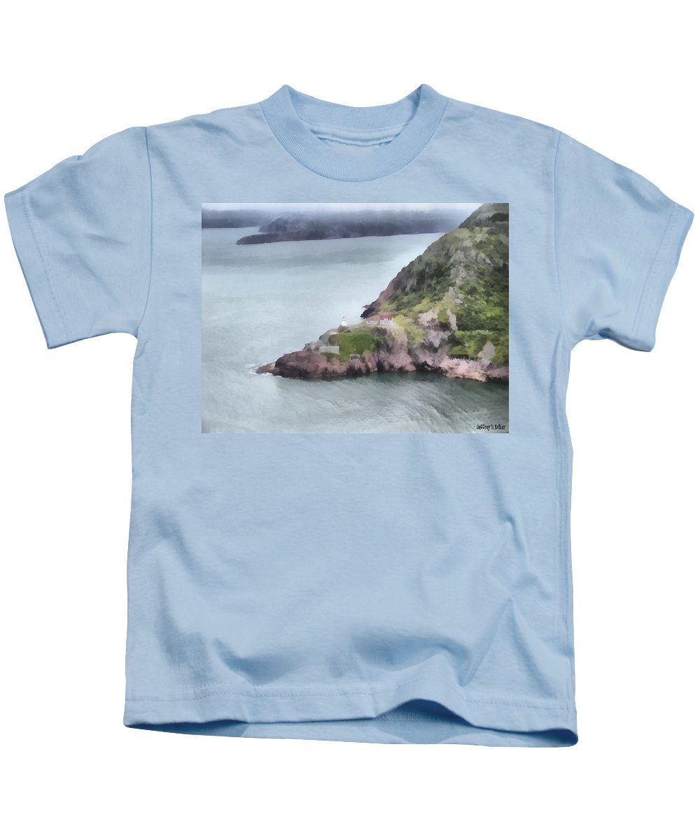 Canadian Kids T-Shirt featuring the painting View From Signal Hill by Jeffrey Kolker