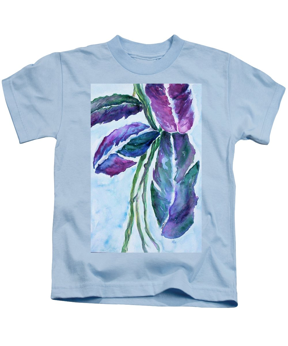 Landscape Kids T-Shirt featuring the painting Vine by Suzanne Udell Levinger