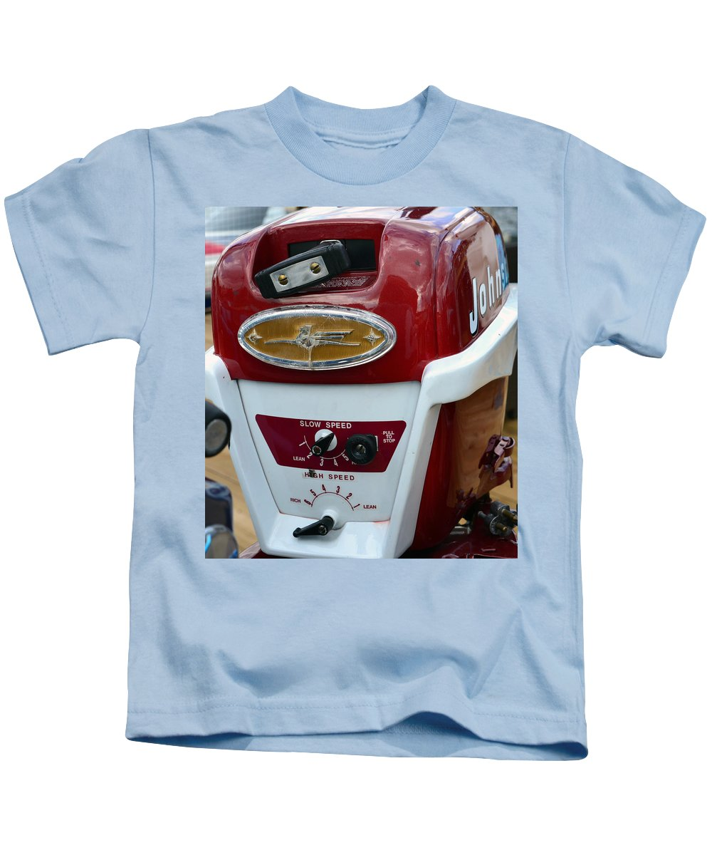 Vintage Outboard Boat Motor Kids T-Shirt featuring the photograph Vintage Outboard 6 by David Lee Thompson